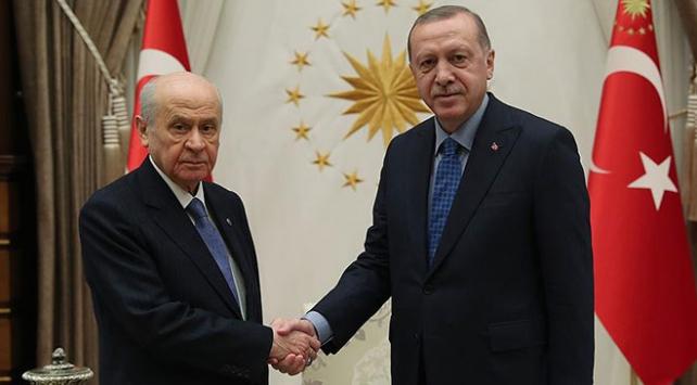 Cumhurbaşkanı Erdoğan Bahçeli görüşmesi başladı