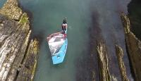 Sörf tahtasıyla dünya turu yapan Norveçli gezgin