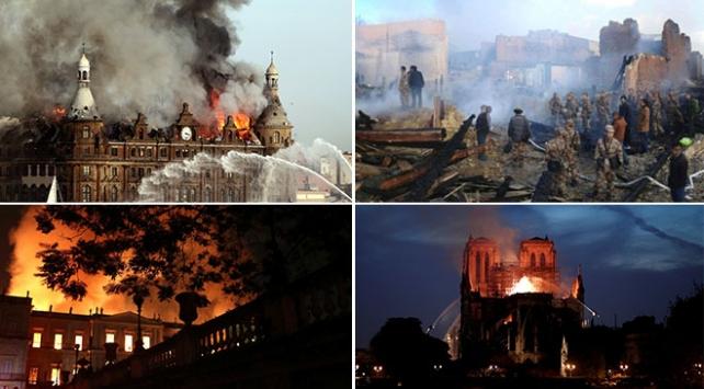 Yangınların zarar verdiği ya da yok ettiği tarih