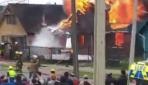 Şilide küçük uçak evin üzerine düştü: 6 ölü