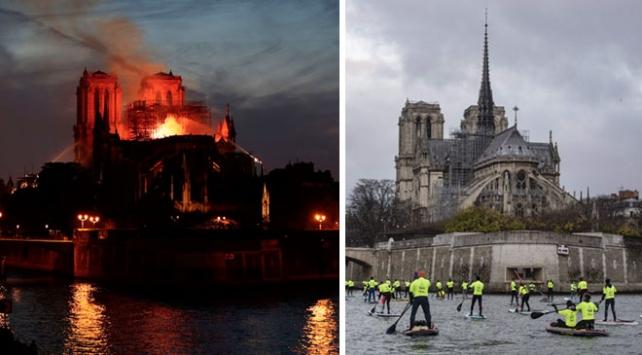 Öncesi ve sonrası kareleriyle Notre Dame Katedrali yangını