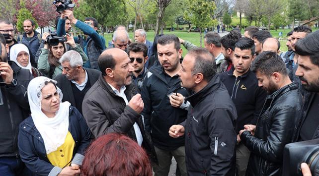 Diyarbakırda izinsiz açıklama yapmak isteyen gruba müdahale