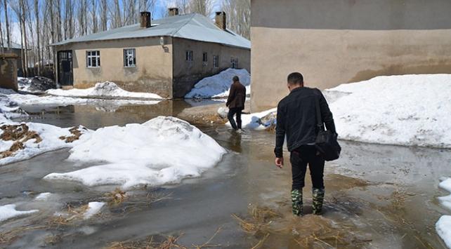 Yüksekovada dere taştı, evler su altında kaldı