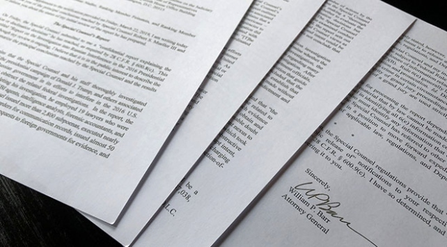 Muellerin Rusya soruşturması raporu yayımlandı