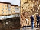 Manisa'da yıkılma tehlikesi bulunan 2 bina boşaltıldı