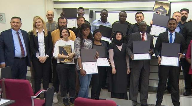 TRT'nin TİKA ile ortak yürüttüğü eğitim sona erdi