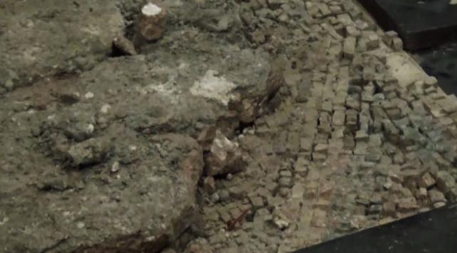 Amasya'da bulunan elma motifli mozaik müzede sergilenecek