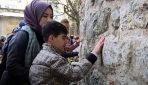 Görme engelli çocuklara İstanbulu gezdirdiler