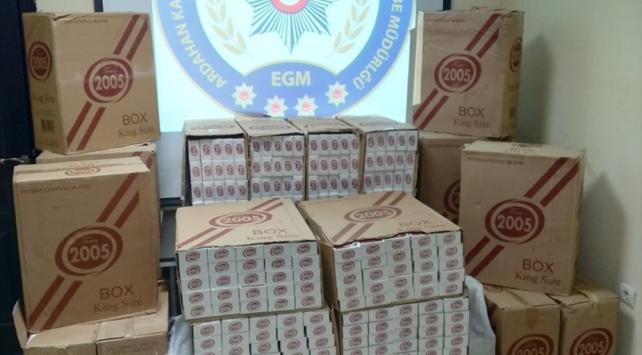 Ardahanda 65 bin 500 paket kaçak sigara ele geçirildi