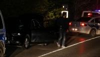 Sarıyer'de denetimden kaçan otomobil polise çarptı