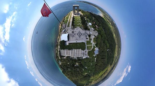 Dünya savaş tarihine geçen Gelibolu Tarihi Alanına kuş bakışı