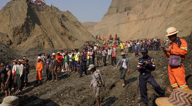 Myanmarda madende göçük: 54 işçiden haber alınamıyor