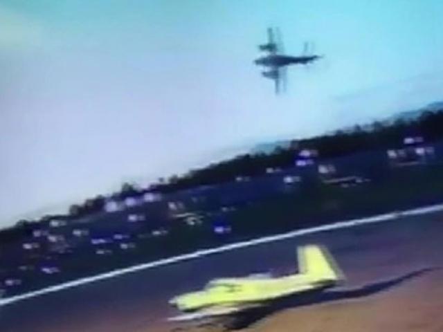 ABD'de pilotun hayatını kaybettiği uçak kazası güvenlik kamerasında