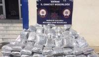 Edirne'de tırda 450 kilogram uyuşturucu ele geçirildi