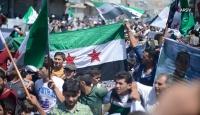 Deyrizor'da yaşayan sivillerden YPG/PKK işgaline karşı gösteriler