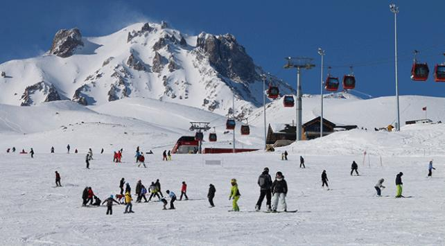 Erciyes Kayak Merkezi 2 milyonu aşkın ziyaretçiyi ağırladı