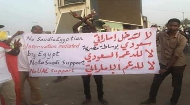 Sudanda Suudi Arabistan, Mısır ve BAEye tepki artıyor