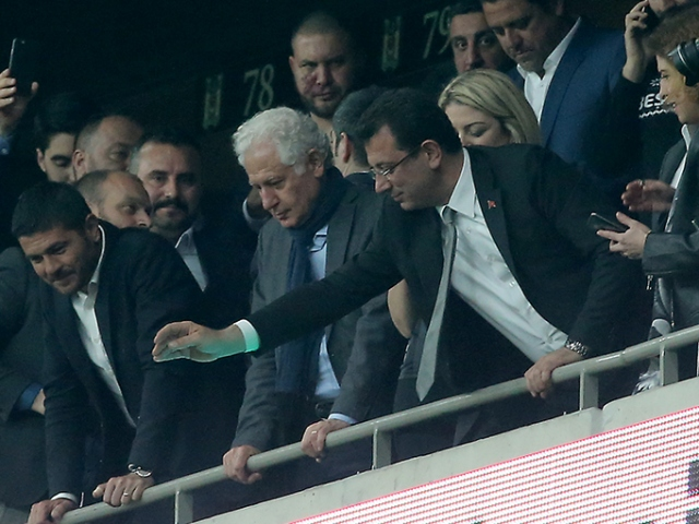 İmamoğlunun maç izlediği locanın kiracısı şirketten Beşiktaşa ihtarname