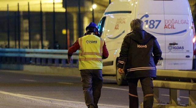 İstanbul Sarıyerde doğal gaz borusu delindi