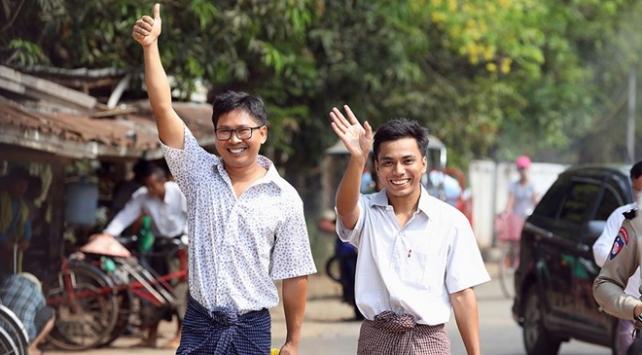 Myanmarda tutuklu bulunan Reuters muhabirleri serbest