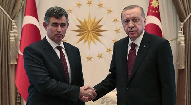 Cumhurbaşkanı Erdoğan, Feyzioğlunu kabul etti