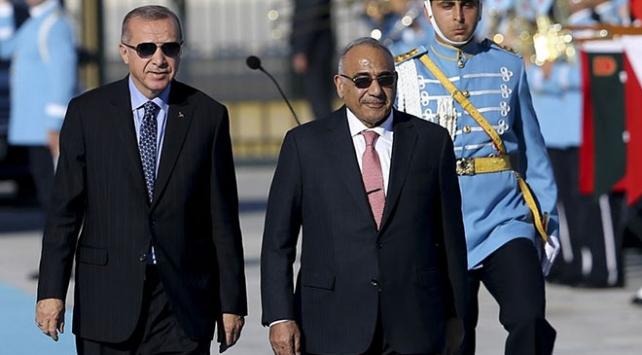 Cumhurbaşkanı Erdoğan Irak Başbakanı Abdulmehdiyi resmi törenle karşıladı