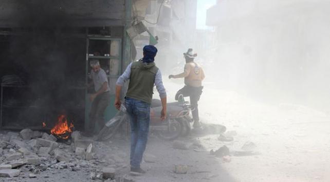 İdlibde iftardan önce hava saldırısı : 2 ölü, 11 yaralı