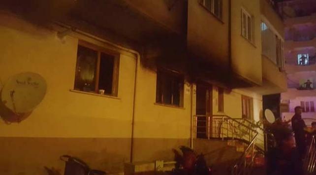 Bursada apartmanda yangın