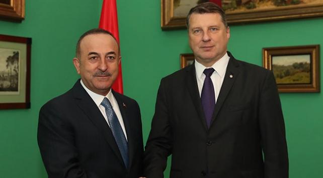 Dışişleri Bakanı Çavuşoğlu, Letonya Cumhurbaşkanı Vejonis ile görüştü
