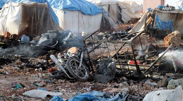 Suriyede mülteci kampına saldırı