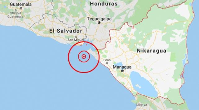 Nikaraguada 5,7 büyüklüğünde deprem