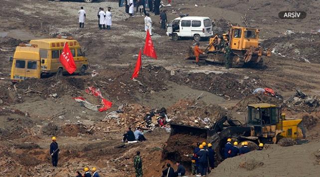 Çinde demir madenini su bastı