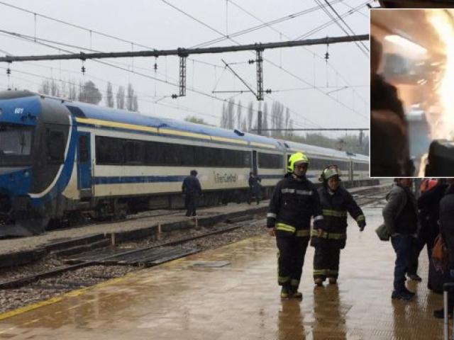 Şili'de yolcu treninde yangın paniği