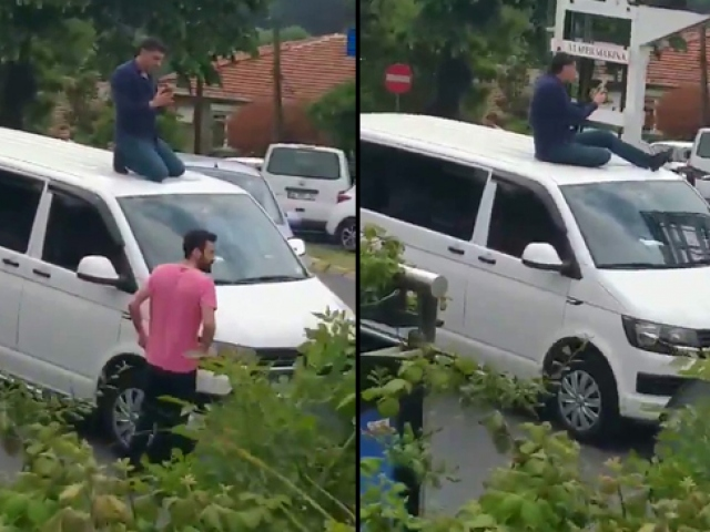 Korsan taşımacılık yapan UBER sürücüsü polise böyle direndi