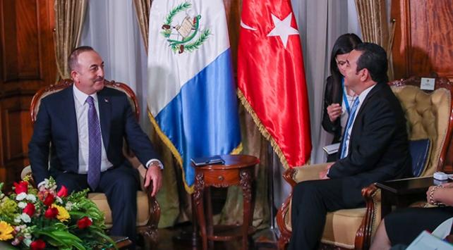 Dışişleri Bakanı Çavuşoğlu, Guatemala Devlet Başkanı ile görüştü
