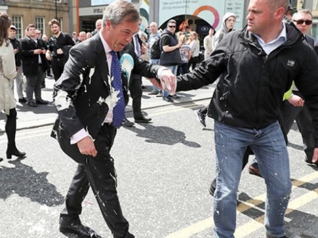 İngiltere'de milkshake protestosunun hedefi Brexit Partisi lideri