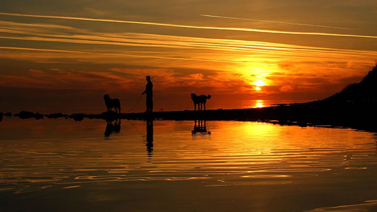 Van Gölü'nde kartpostallık gün batımı görüntüleri