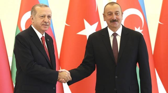 Cumhurbaşkanı Erdoğandan Azerbaycana kutlama mesajı