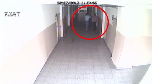 Çankırıda öğretmene darp güvenlik kamerasında