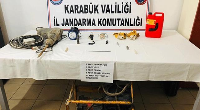 Karabükte kaçak kazı operasyonu: 3 gözaltı