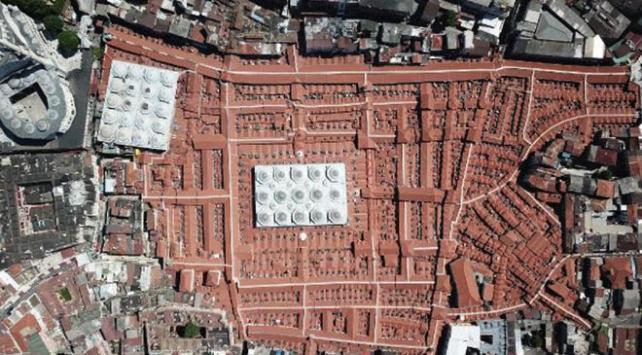Tarihi Kapalı Çarşının çatısı ve altyapısı tamamlandı
