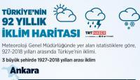 Türkiye'nin 92 yıllık iklim haritası