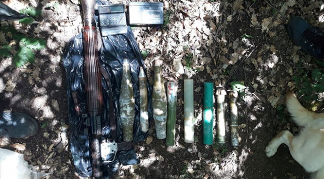 Gümüşhanede terör örgütü PKKya ait silah deposu bulundu