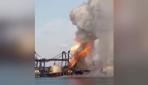 Taylandda kargo gemisi yandı: 130 kişi hastaneye kaldırıldı
