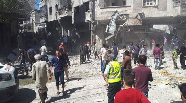 Esed rejimi pazara saldırdı: 4 ölü, 40dan fazla yaralı