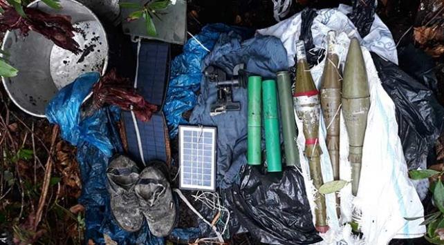Gümüşhanede terör örgütü PKKya ait silah ve erzak deposu imha edildi