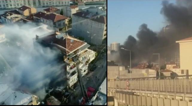 Kadıköy Fikirtepede yangın
