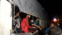 Tırın dorsesinde 97 düzensiz göçmen yakalandı