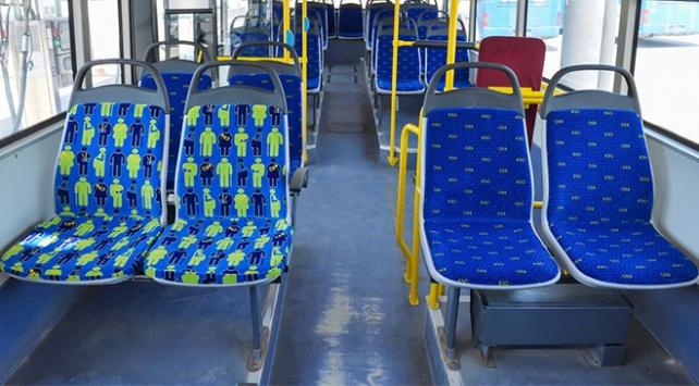 """Başkentte otobüslerde """"öncelikli koltuklara"""" özel figür"""