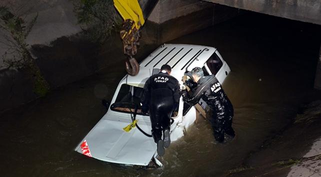 Çalındı zannettiği otomobili sulama kanalından çıktı